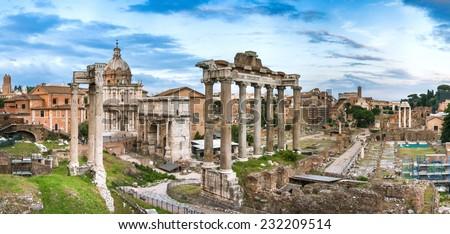 Roma - Forum Romanum - stock photo