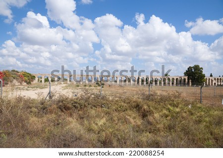 Roman Aqueduct - stock photo