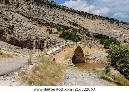 Roman bridge at Cendere from 2nd century AD, honoring Septimus Severus and sons, eastern Turkey
