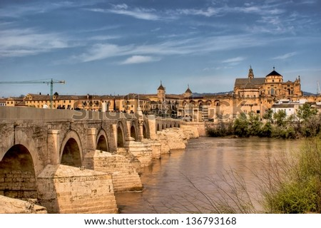 Roman bridge of Cordoba in Spain