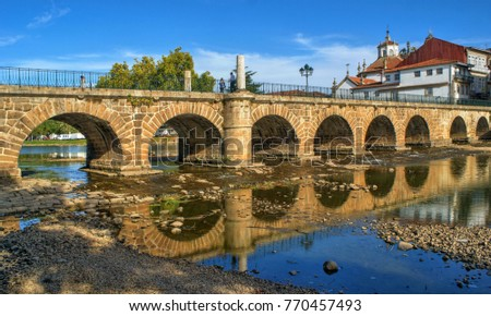 Roman bridge of Trajano, Chaves, Portugal