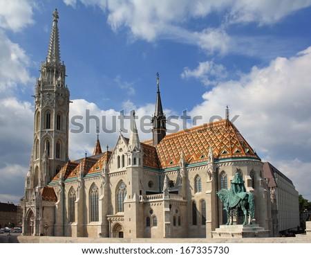 Roman Catholic Matthias Church in Budapest - stock photo