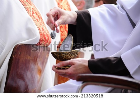Roman - Catholic Procession of Body of Christ - stock photo