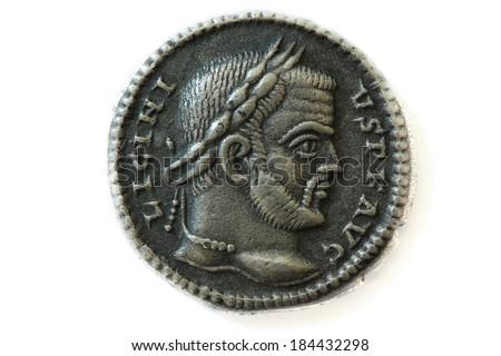 roman coin - stock photo