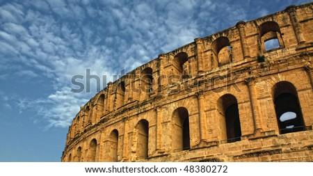 Roman Coliseum - El-Jem, Tunisia - stock photo