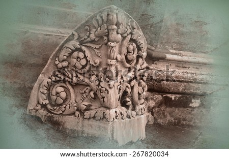 Roman column - stock photo