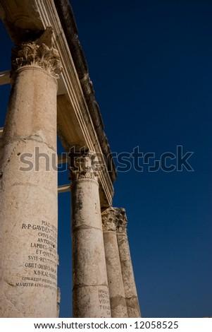 roman columns - stock photo