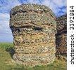 roman fort gariannonium burgh castle norfolk broads national park east anglia england uk europe - stock photo