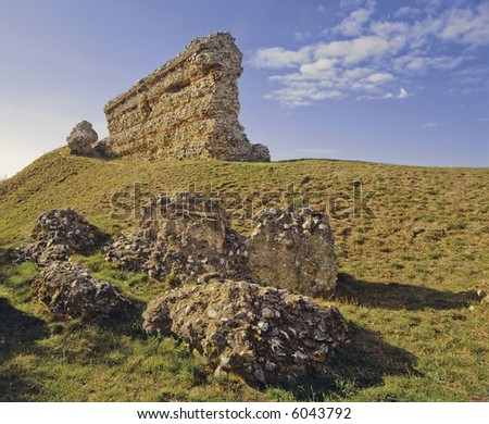 roman fort gariannonium burgh castle norfolk broads national park east anglia england uk europe