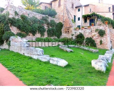Roman Forum in Spello, Umbria (Italy)