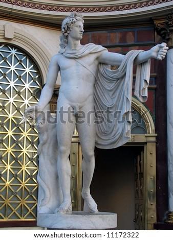 Roman Greek Male Statue - stock photo
