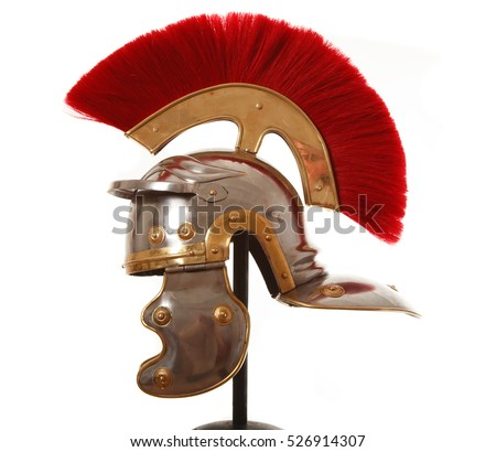 Roman infantry helmet in profile