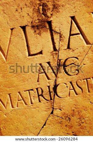Roman letters texture - stock photo