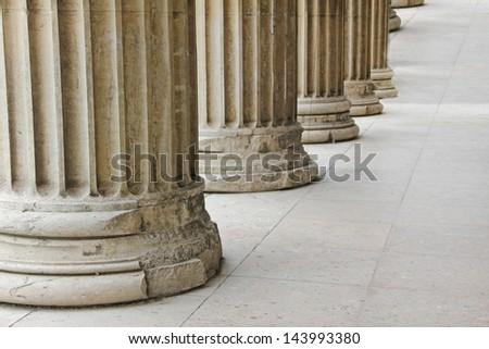 Roman pillars - stock photo