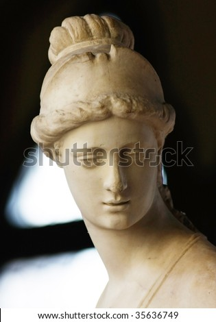 Roman portrait of beautiful woman from the Bargello Palace in Florence (Italy) - stock photo