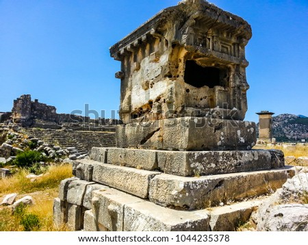 roman ruins of xanthos turkey