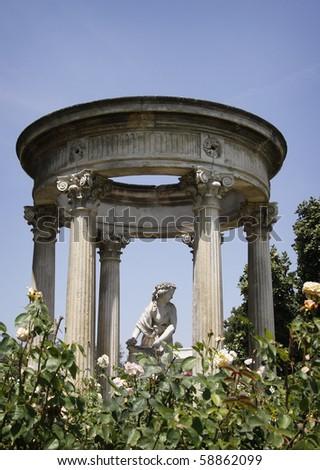 Roman sculpture garden - stock photo