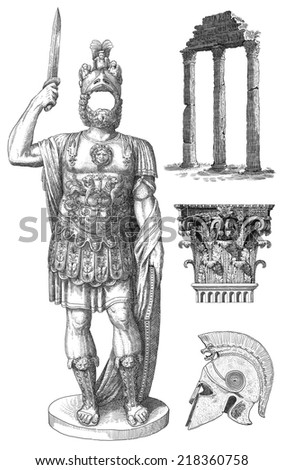 Roman soldier - stock photo