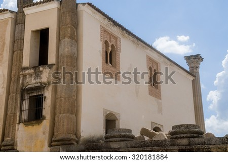 Roman temple in Merida, Spain