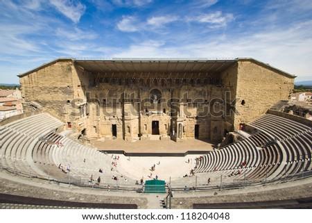 Roman Theatre of Orange (France) - stock photo