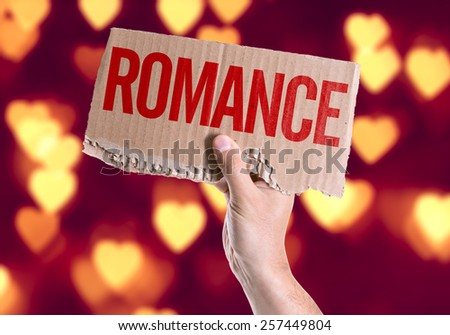Romance card with heart bokeh background - stock photo
