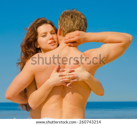 Romance Posing Portrait  - stock photo