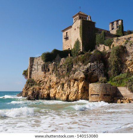Romanesque castle of Tamarit in Tarragona, Catalonia.