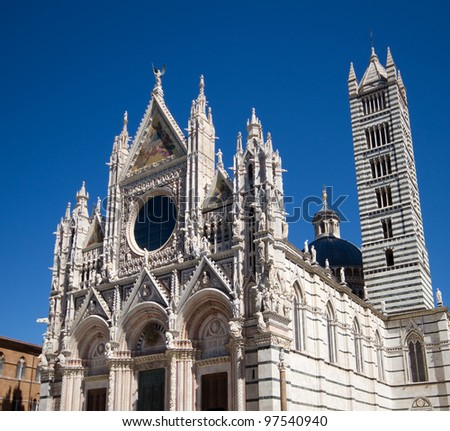 Romanesque cathedral of Siena, Tuscany, Italy