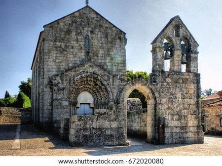 Romanesque monastery of Sao Pedro de Ferreira in Pacos de Ferreira, north of Portugal