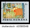 ROMANIA - CIRCA 1971: A postage stamp printed in Romania showing a painting by Vincent Van Gogh, circa 1971 - stock photo