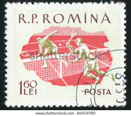 ROMANIA - CIRCA 1959: stamp printed by Romania, shows Tennis, circa 1959