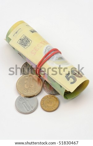 Romanian money, coins an banknotes
