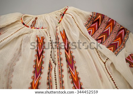 Romanian Traditional Blouse Textures Traditional Motifs Stock Photo 344452559 Shutterstock