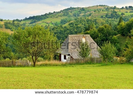 Romanian traditional village house from Sacuieu