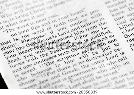 Romans 10:9 - a popular verse in the Christian New Testament