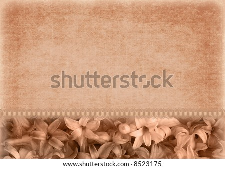 Romantic  background with flower