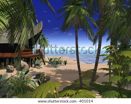 Romantic Beach - stock photo
