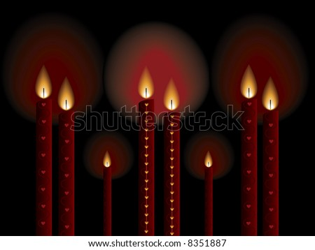 Romantic candle light on the special day. (raster)
