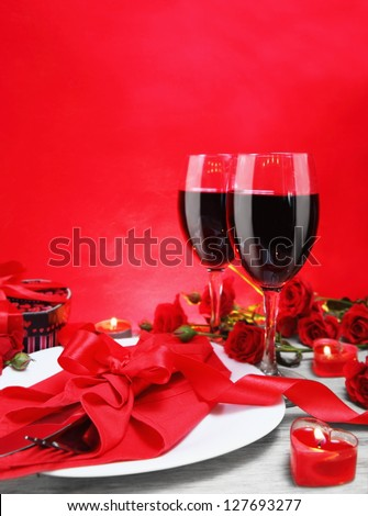 Romantic Candlelight Dinner for Two Lovers Vertical