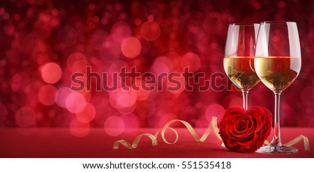 Romantic celebration of valentine's day