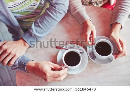 Romantic coffee - stock photo