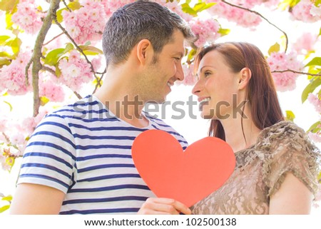 romantic couple enjoying time together