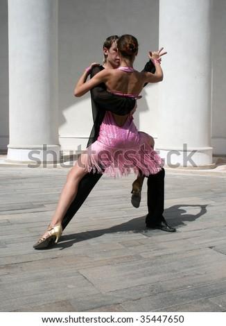 Romantic dancing - stock photo