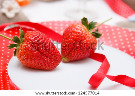 Romantic decoration of holiday table - stock photo