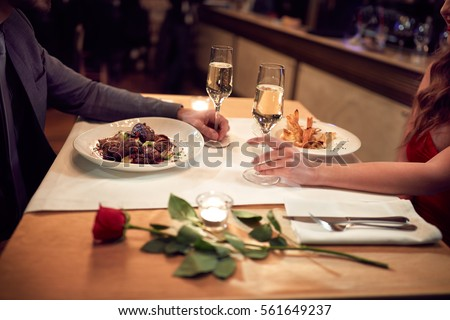 Romantic dinner for couple in love-concept