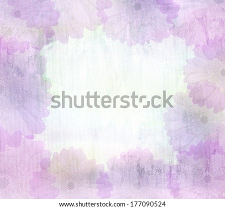 romantic flower Grunge vintage abstract rusty colored purple background - stock photo