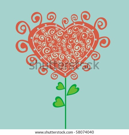 Romantic flower, vector version is in my portfolio.