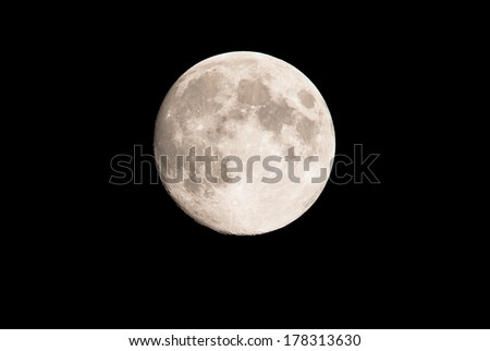 Romantic  full moon in the night sky - stock photo