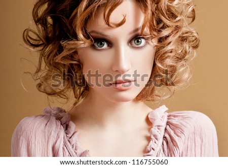 romantic girl with curls