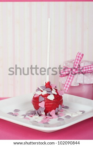 romantic heart cake pop for wedding or Valentine - stock photo